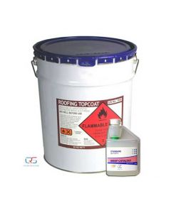 White Roofing Topcoat 22kg inc Catalyst