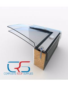 1200x600 Skylight - Flat roof Mardome Clear Dome roof Light Window