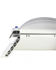 Clear 600mmx600mm SkySeal Smartdome Triple Skin Fixed Rooflight with Kerb