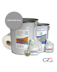 25m2 600g Fibreglass Roof Kit LG95 Grey