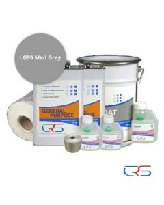 5m2 600g Fibreglass Roof Kit LG95 Grey
