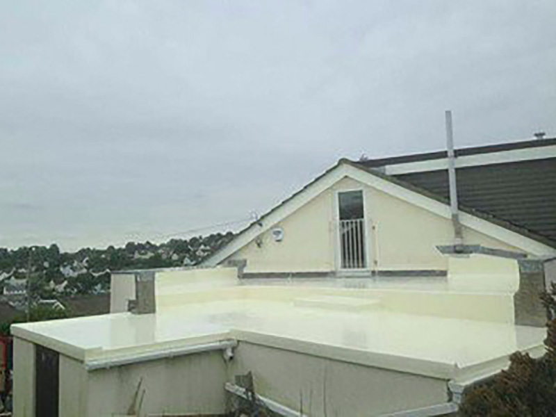 GRP balcony roof