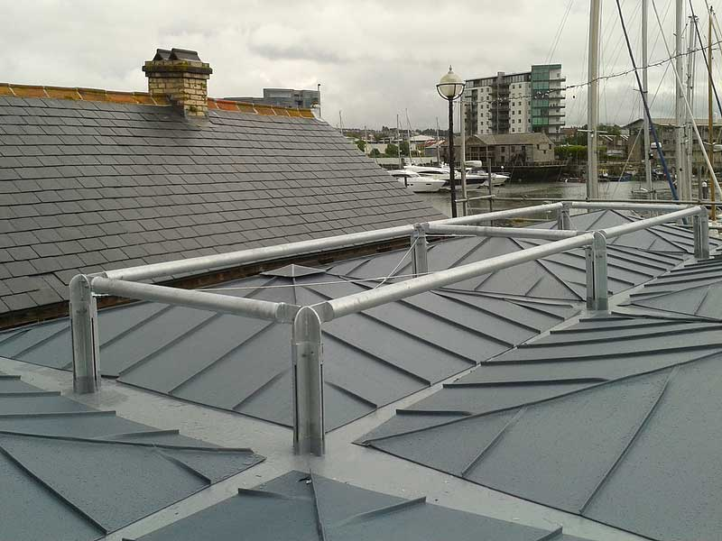 Pigmento Bleu Zinc roofing at Cap'n Jaspers Plymouth